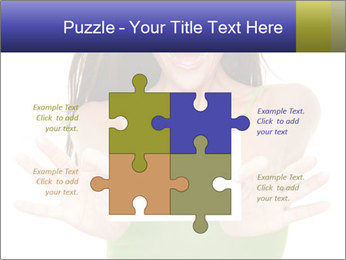 Surprised Girl with Card PowerPoint Template - Slide 43