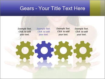 Surprised Girl with Card PowerPoint Template - Slide 48