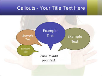 Surprised Girl with Card PowerPoint Templates - Slide 73