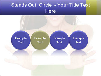 Surprised Girl with Card PowerPoint Template - Slide 76