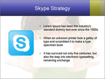 Surprised Girl with Card PowerPoint Templates - Slide 8
