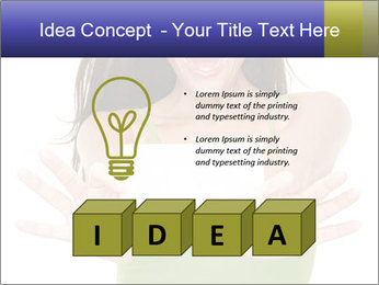 Surprised Girl with Card PowerPoint Template - Slide 80