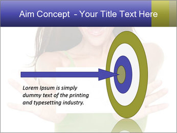 Surprised Girl with Card PowerPoint Template - Slide 83
