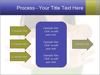 Surprised Girl with Card PowerPoint Template - Slide 85