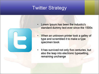 Surprised Girl with Card PowerPoint Template - Slide 9