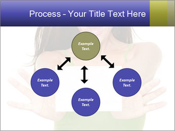 Surprised Girl with Card PowerPoint Templates - Slide 91