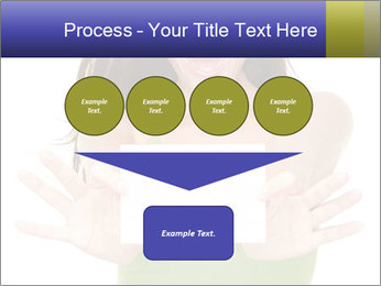 Surprised Girl with Card PowerPoint Templates - Slide 93