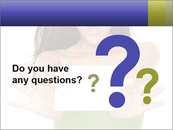 Surprised Girl with Card PowerPoint Templates - Slide 96