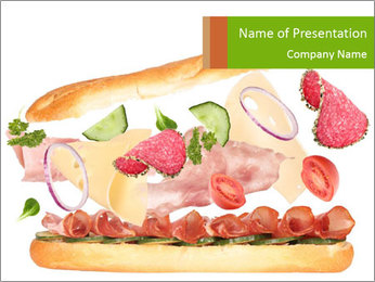 French Burger PowerPoint Templates - Slide 1