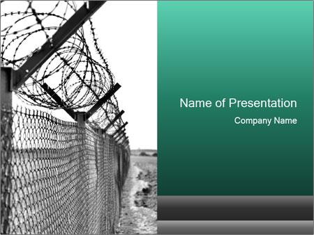 Prison powerpoint template smiletemplates fence in prison powerpoint template toneelgroepblik Choice Image