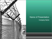 Fence in Prison PowerPoint Templates