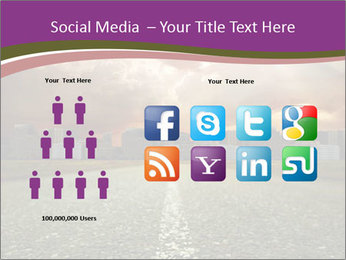 Field and Road PowerPoint Template - Slide 5