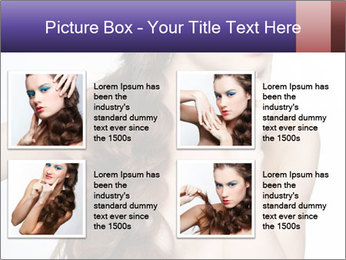 Naked Lady with Creative Hairdo PowerPoint Template - Slide 14