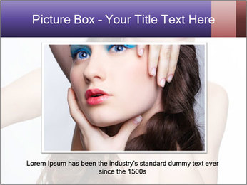 Naked Lady with Creative Hairdo PowerPoint Template - Slide 16
