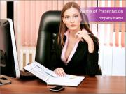 Woman Director PowerPoint Templates