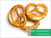 Three Pretzels with Sea Salt PowerPoint Templates