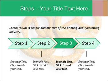 Three Pretzels with Sea Salt PowerPoint Template - Slide 4