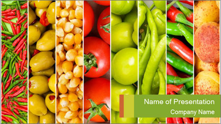 Products for Dieting PowerPoint Template