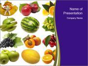 Assortment of Fruits PowerPoint Templates