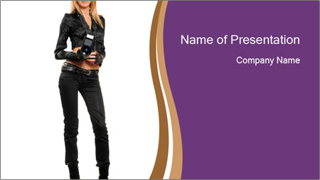 Fashion Photographer PowerPoint Template