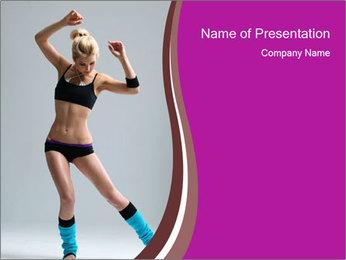 Fitness Dance PowerPoint Templates - Slide 1