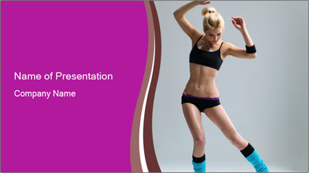 Fitness Dance PowerPoint Template