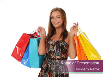 Shopping Tour PowerPoint Template - Slide 1