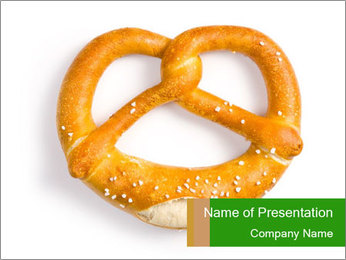 Salty Pretzel PowerPoint Template - Slide 1