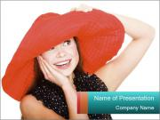 Red Female Hat PowerPoint Templates