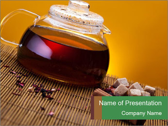 Strong Black Tea PowerPoint Template - Slide 1