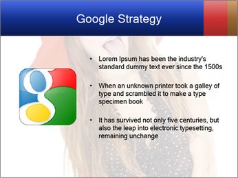 Funny Girl in Red Hat PowerPoint Template - Slide 10