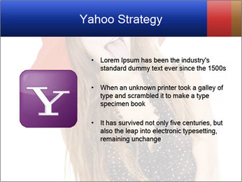 Funny Girl in Red Hat PowerPoint Template - Slide 11