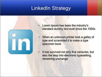 Funny Girl in Red Hat PowerPoint Template - Slide 12