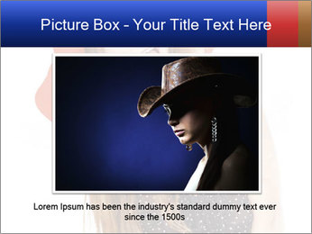 Funny Girl in Red Hat PowerPoint Template - Slide 16