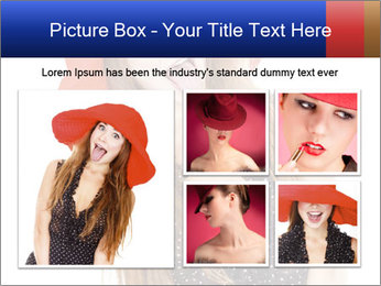 Funny Girl in Red Hat PowerPoint Template - Slide 19