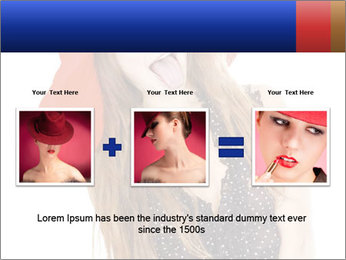 Funny Girl in Red Hat PowerPoint Template - Slide 22