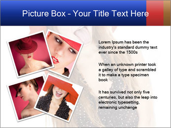 Funny Girl in Red Hat PowerPoint Template - Slide 23