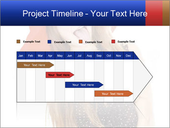 Funny Girl in Red Hat PowerPoint Template - Slide 25