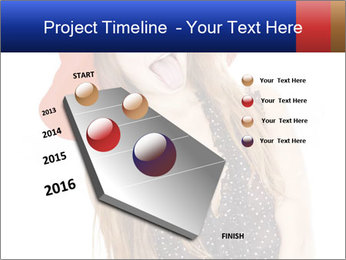 Funny Girl in Red Hat PowerPoint Template - Slide 26