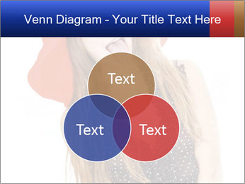 Funny Girl in Red Hat PowerPoint Template - Slide 33