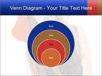 Funny Girl in Red Hat PowerPoint Template - Slide 34
