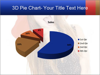 Funny Girl in Red Hat PowerPoint Template - Slide 35