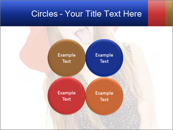Funny Girl in Red Hat PowerPoint Template - Slide 38