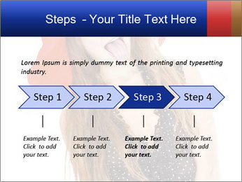 Funny Girl in Red Hat PowerPoint Template - Slide 4