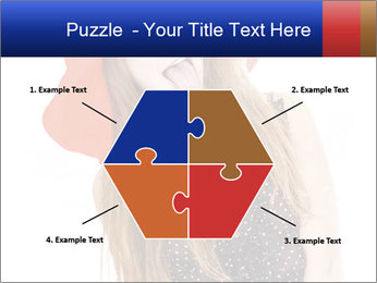 Funny Girl in Red Hat PowerPoint Template - Slide 40