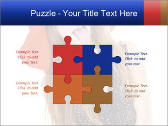 Funny Girl in Red Hat PowerPoint Template - Slide 43