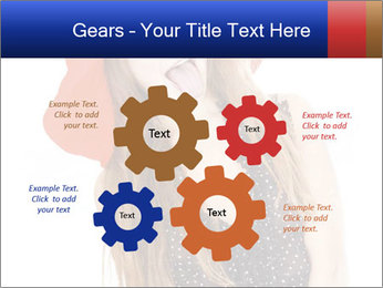 Funny Girl in Red Hat PowerPoint Template - Slide 47