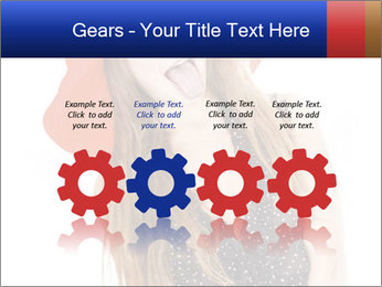Funny Girl in Red Hat PowerPoint Template - Slide 48
