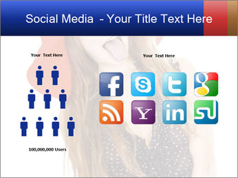 Funny Girl in Red Hat PowerPoint Template - Slide 5