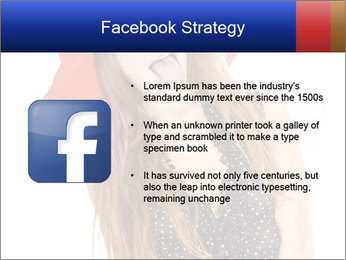 Funny Girl in Red Hat PowerPoint Template - Slide 6